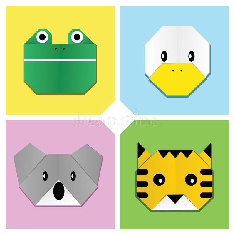 Cabeça animal 3 de Origami ilustração stock