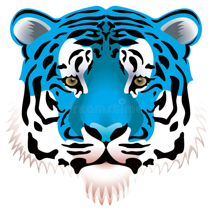 Download Cabeça azul do tigre ilustração do vetor. Ilustração de macho - 16854295