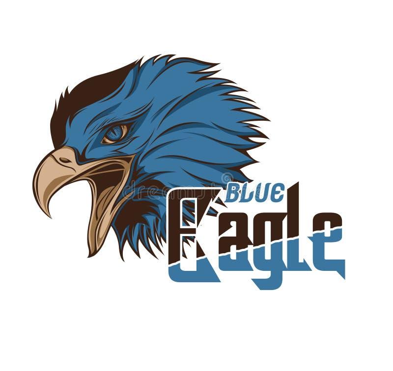 Cabeça azul Eagle Vetora Art fotos de stock royalty free