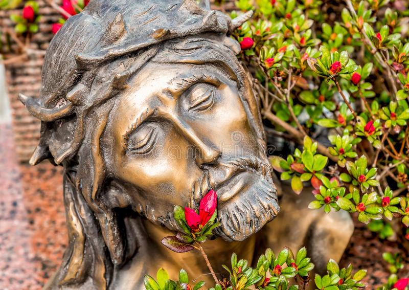 Cabeça coroada com os espinhos de Jesus Christ imagens de stock