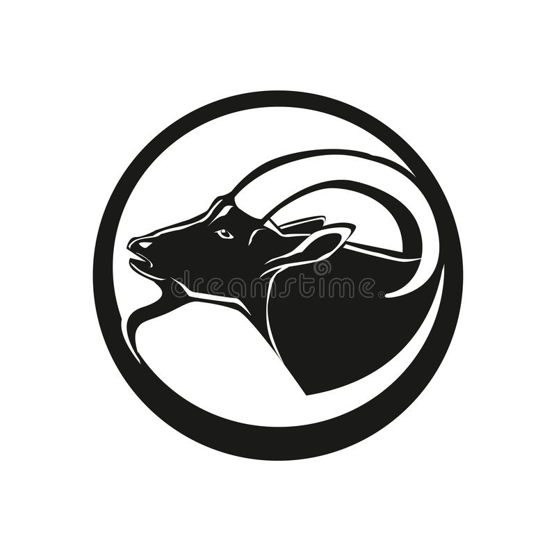 Cabeça da cabra ilustração stock