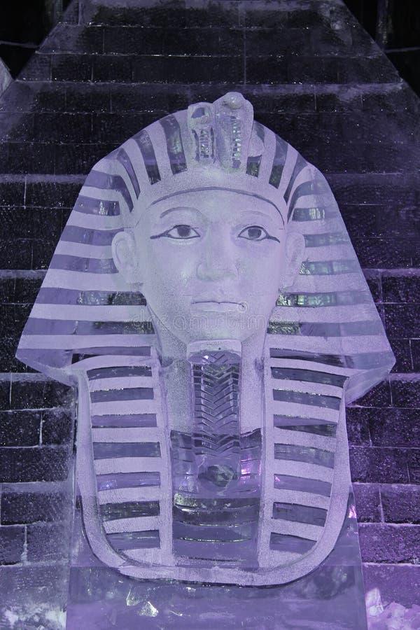 A cabeça da esfinge egípcia do gelo fotos de stock royalty free