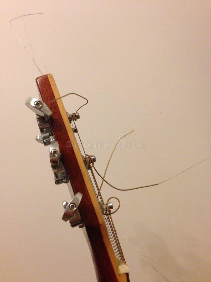 Cabeça da guitarra imagem de stock