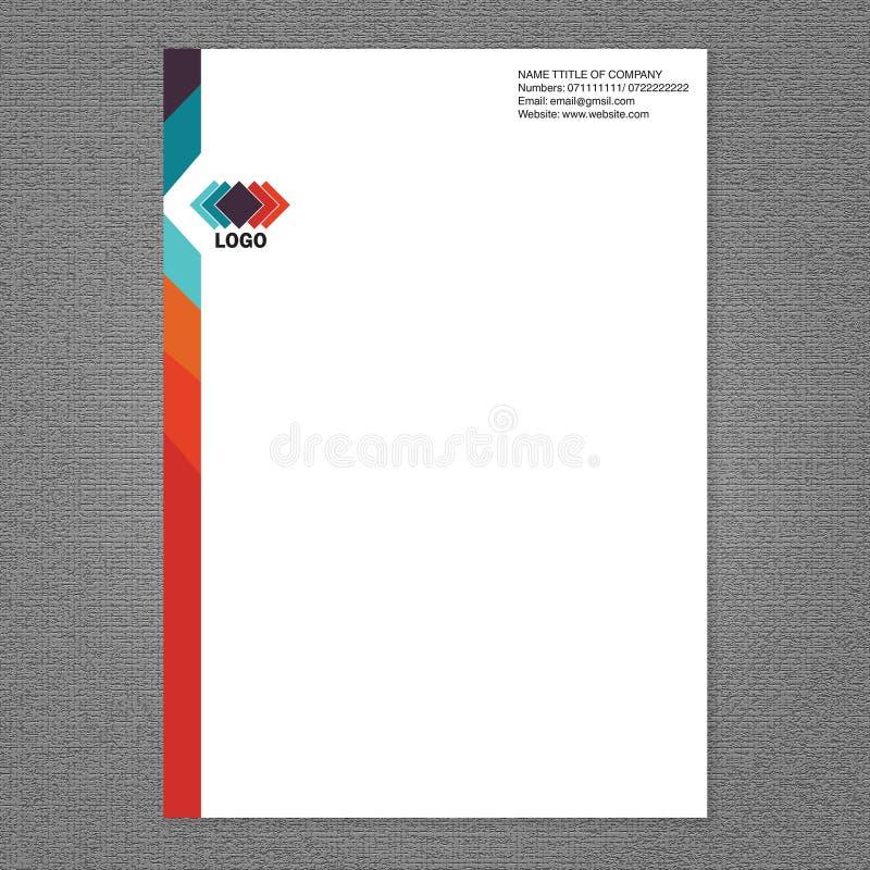 Cabeça da letra e projeto do logotipo ilustração stock