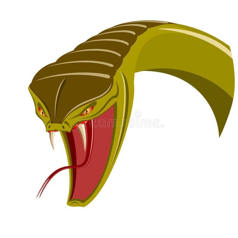 Cabeça da serpente ilustração royalty free