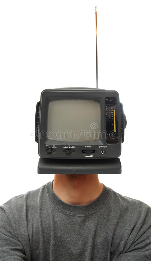 Cabeça da televisão imagens de stock royalty free