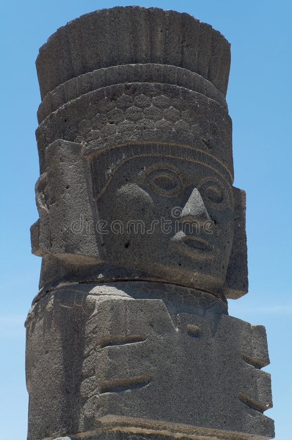 Cabeça de Atlantis em Tula imagem de stock royalty free