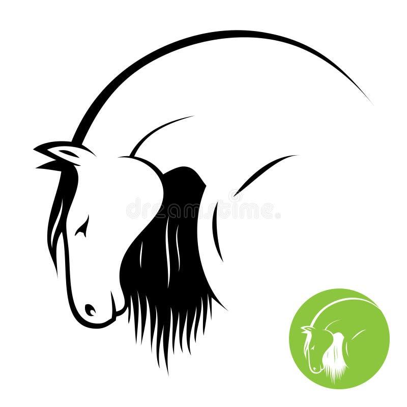 Cabeça de cavalo ilustração do vetor