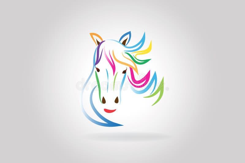 Cabe?a de cavalo da beleza do logotipo ilustração royalty free
