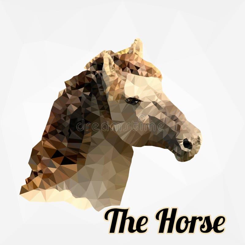 Cabeça de cavalo do vetor do polígono ilustração royalty free