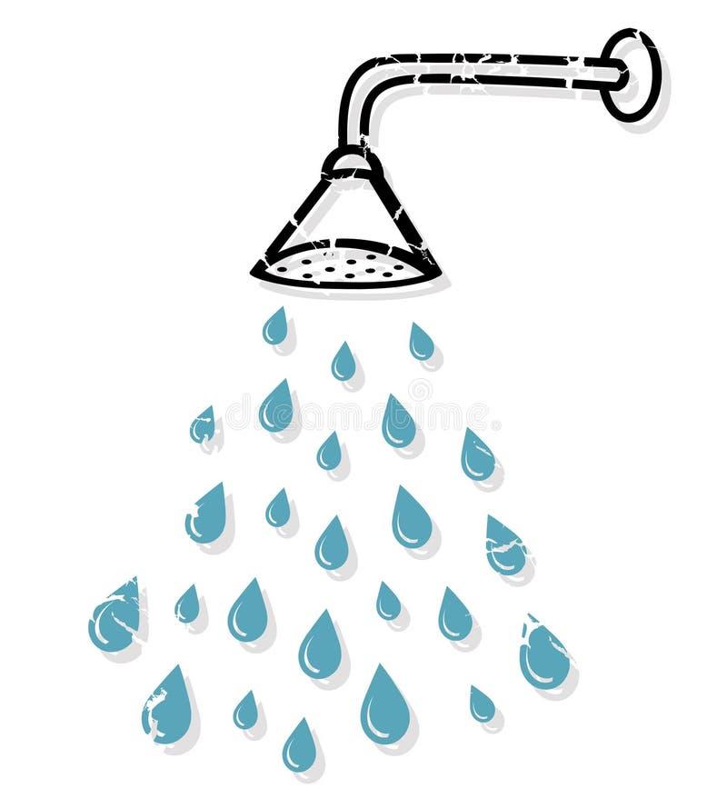 Cabeça de chuveiro ilustração royalty free