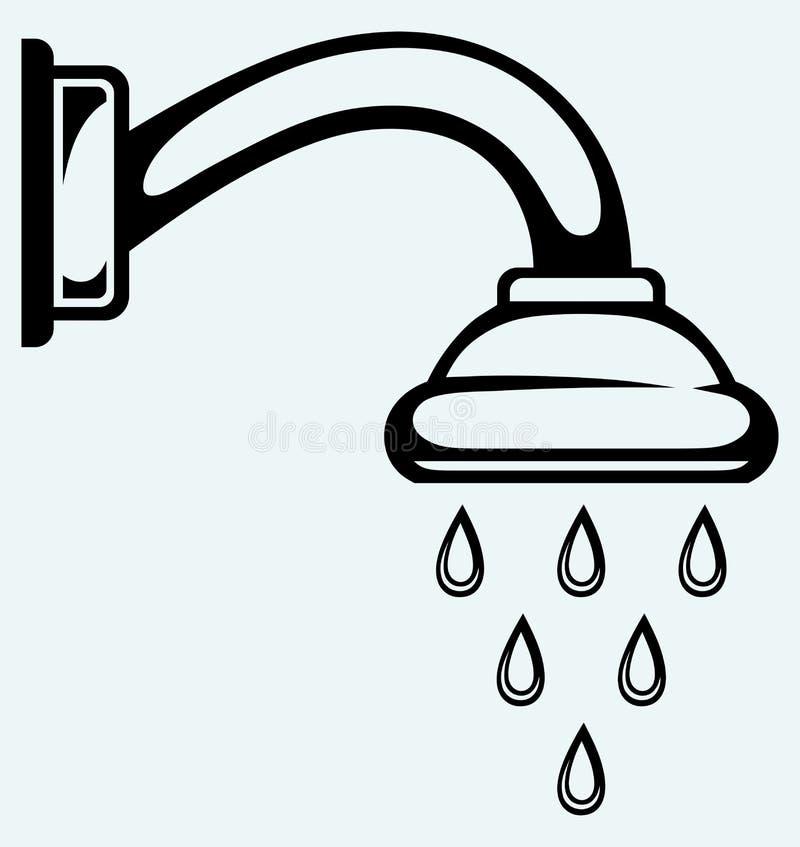 Cabeça de chuveiro ilustração do vetor