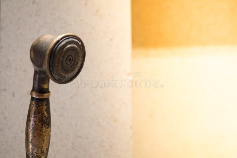 Cabeça de chuveiro retro foto de stock royalty free