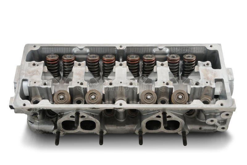 Cabeça de motor de quatro cilindros imagem de stock