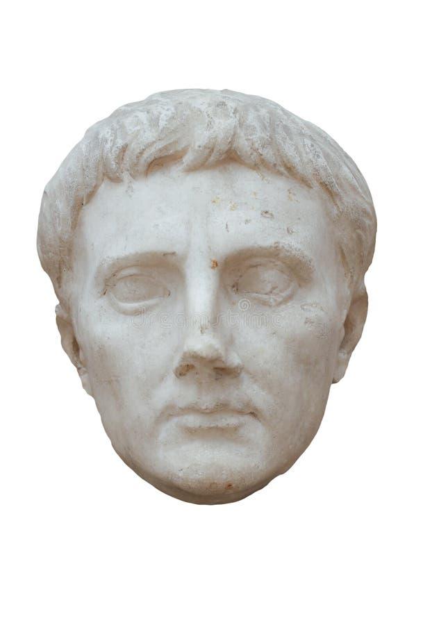Cabeça de Octavius Augustus do imperador Tiberius Age fotografia de stock royalty free