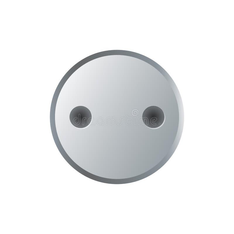 Cabeça de parafuso de aço do soquete isolada no branco ilustração do vetor