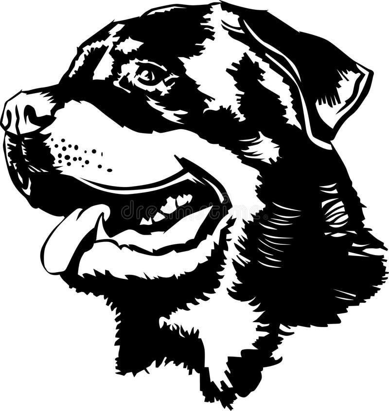 Cabeça de Rottweiler ilustração do vetor