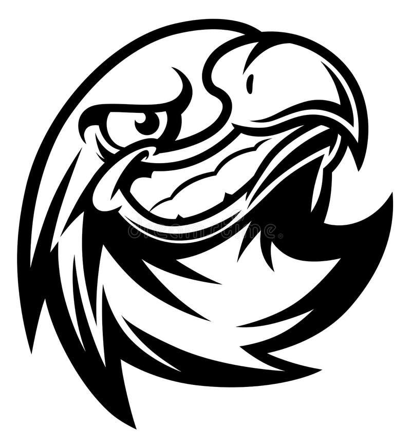 Cabeça de sorriso da águia ilustração do vetor