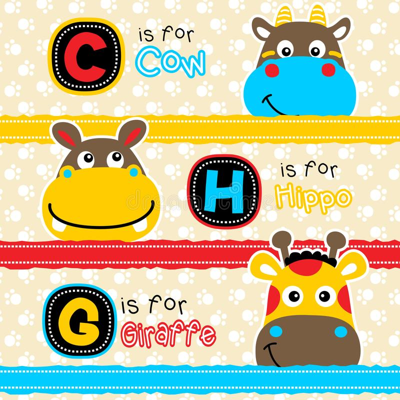 Cabeça de sorriso de desenhos animados dos animais ilustração royalty free