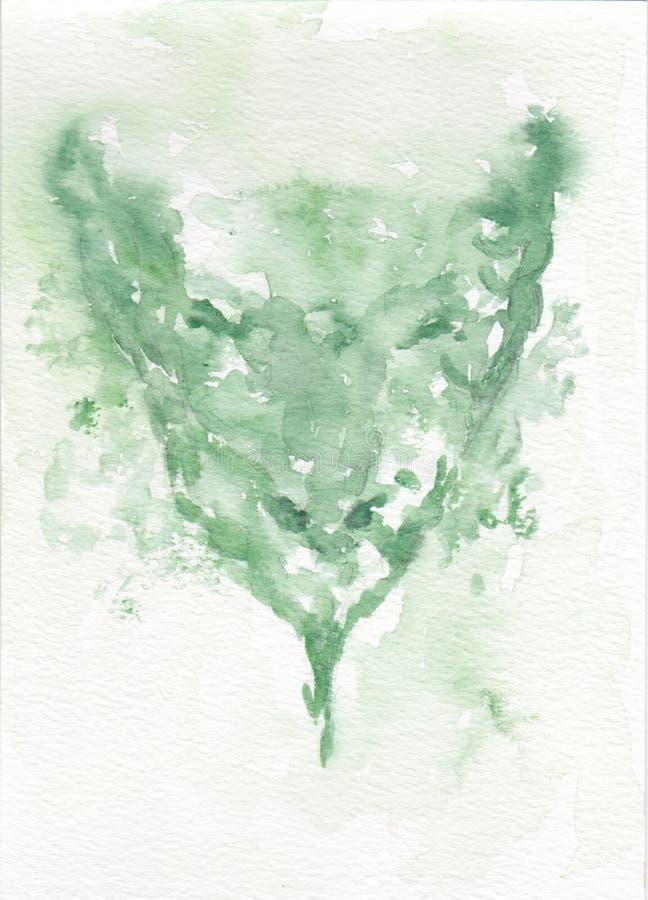 Cabeça de um dragão verde ilustração stock