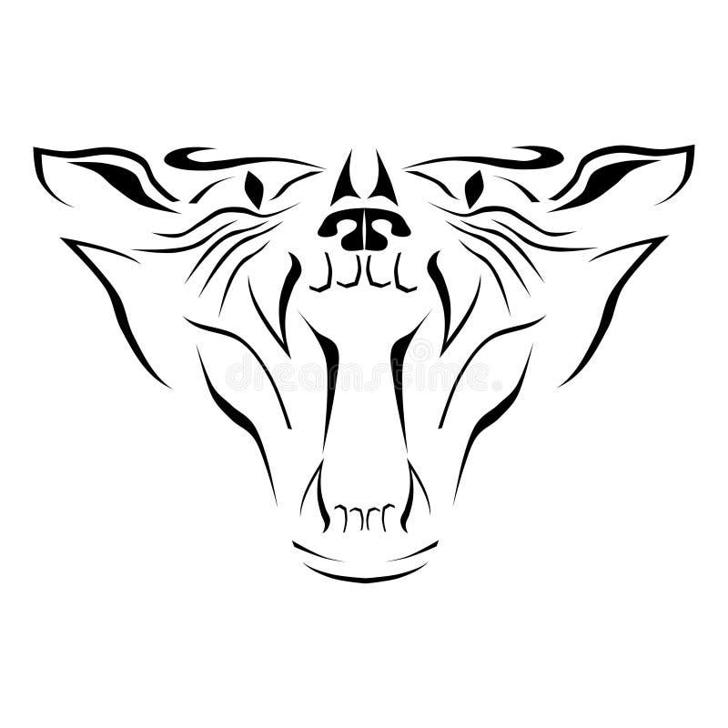 A cabeça de um gato selvagem ilustração royalty free