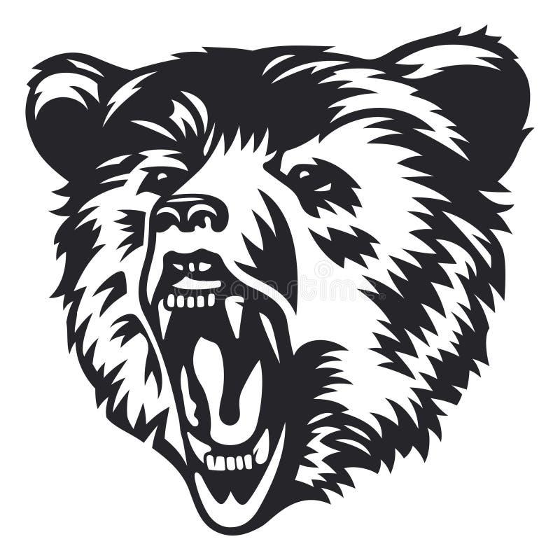 Cabeça de urso 005 imagem de stock royalty free