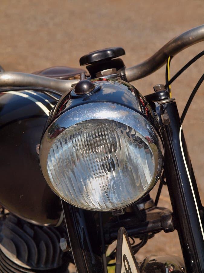 Cabeça dianteira da lâmpada da motocicleta velha fotos de stock royalty free