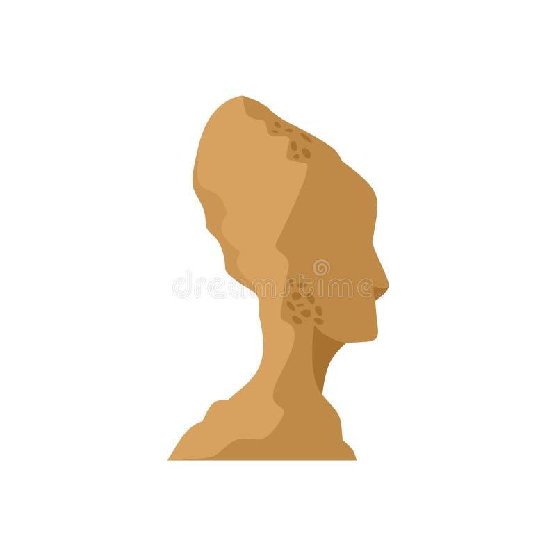 Cabeça do ícone da estátua, estilo liso ilustração royalty free
