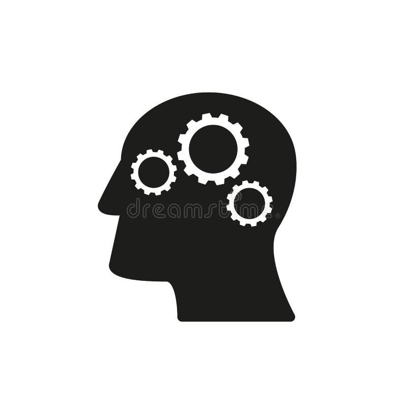 A cabeça do ícone do trabalho boa vem acima ideia ilustração royalty free