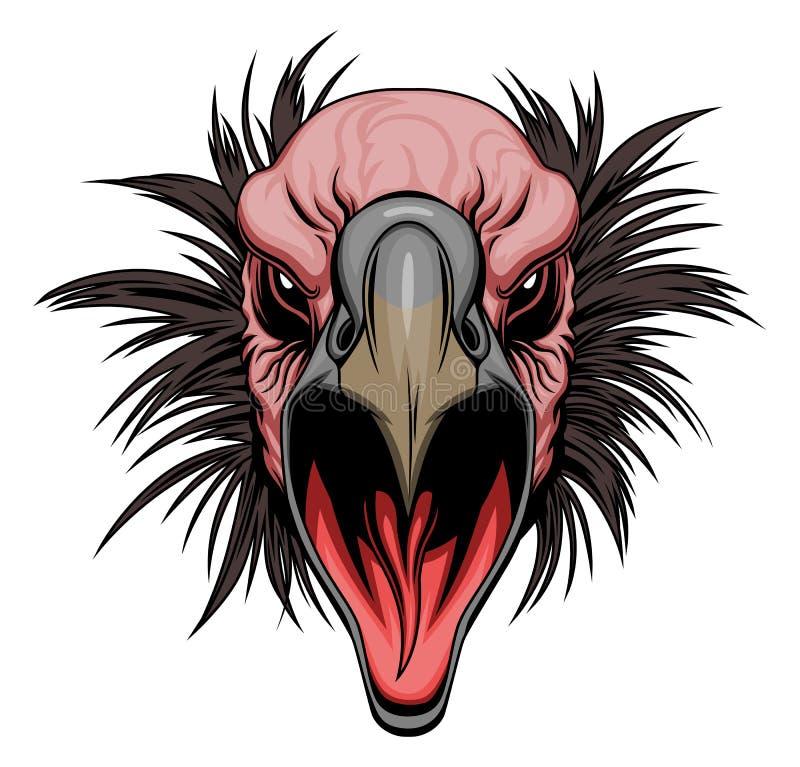 Cabeça do abutre ilustração stock