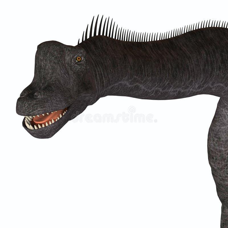 Cabeça do animal do Brachiosaurus ilustração royalty free