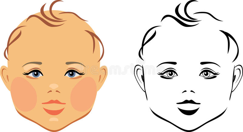 Cabeça do bebê ilustração royalty free