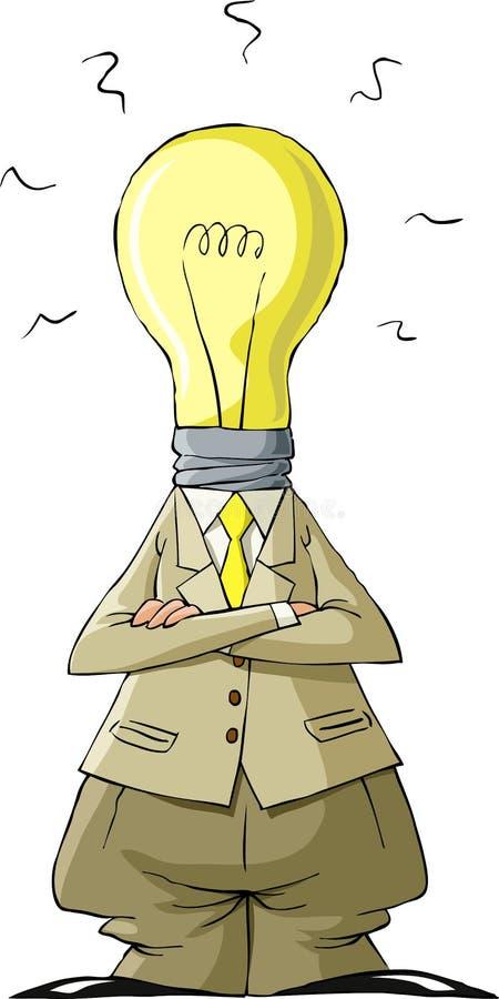 Cabeça do bulbo ilustração royalty free