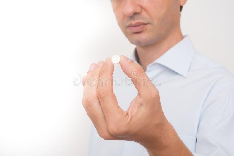 Cabeça do comprimido antropófago doente da medicina fotos de stock