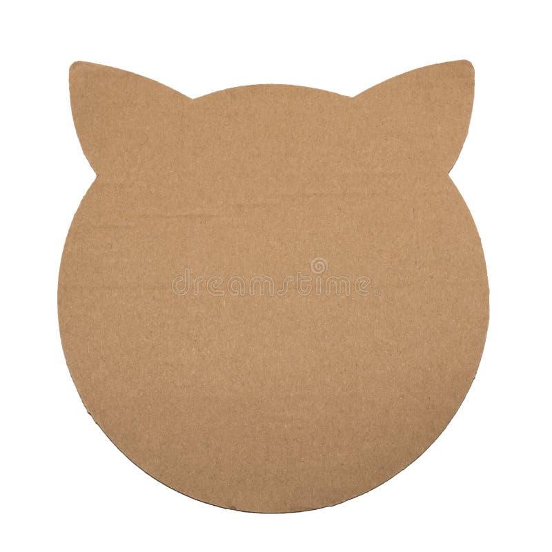 Cabeça do contorno do cartão do gato isolada fotografia de stock