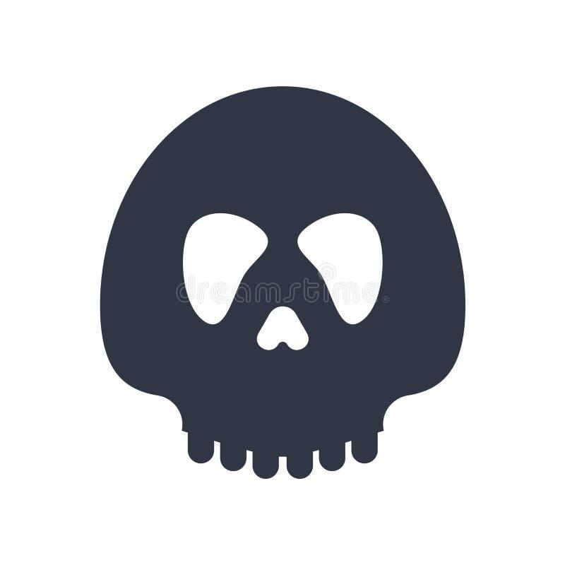Cabeça do diabo com sinal do vetor do ícone dos chifres e símbolo isolados no fundo branco, cabeça do diabo com conceito do logot ilustração stock