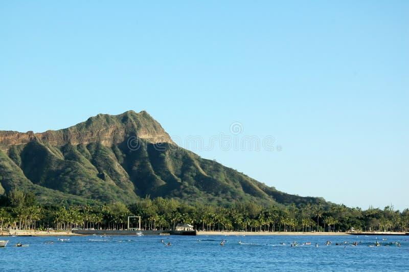 Cabeça do diamante de Waikiki fotos de stock royalty free