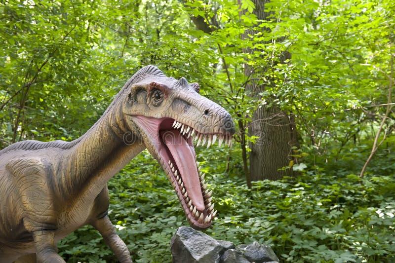 Cabeça do dinossauro fotografia de stock