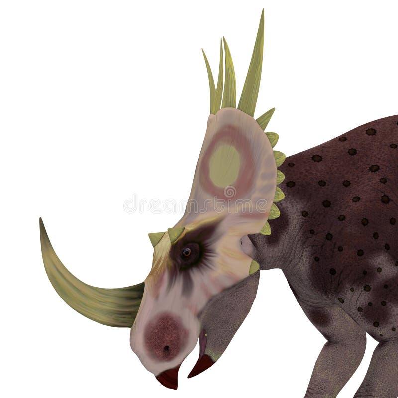 Cabeça do dinossauro de Rubeosaurus ilustração stock