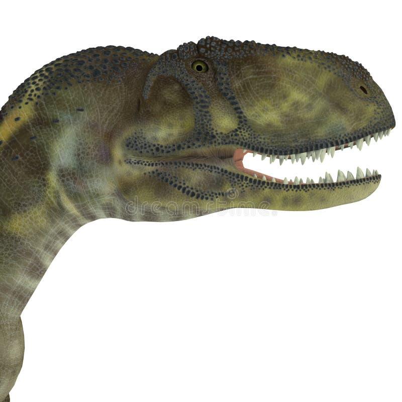 Cabeça do dinossauro do Abelisaurus ilustração do vetor