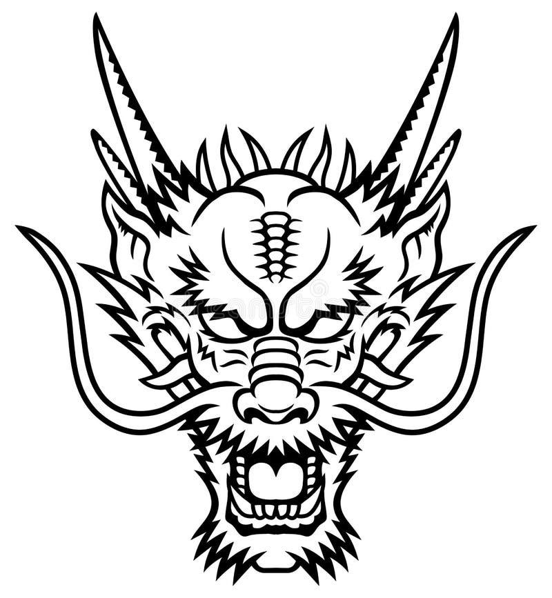 Cabeça do dragão ilustração do vetor
