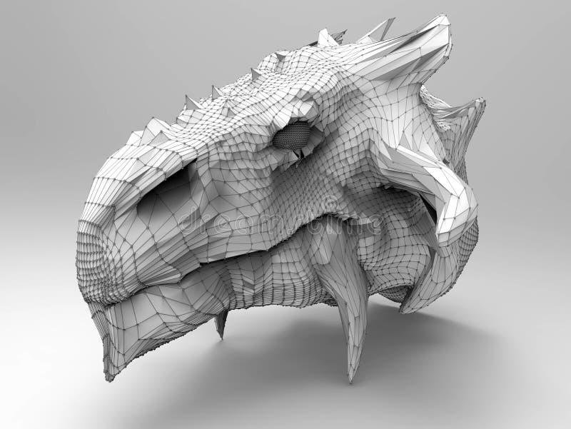 Cabeça do dragão ilustração stock