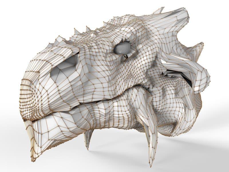 Cabeça do dragão de Digitas ilustração royalty free