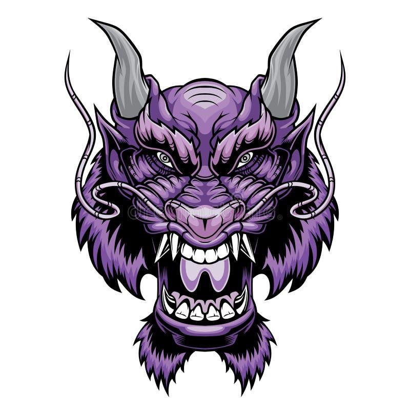 Cabeça do dragão ilustração royalty free