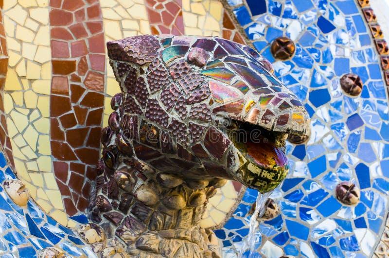 Cabeça do dragão na brasão Barcelona, Catalonia, Spain foto de stock royalty free