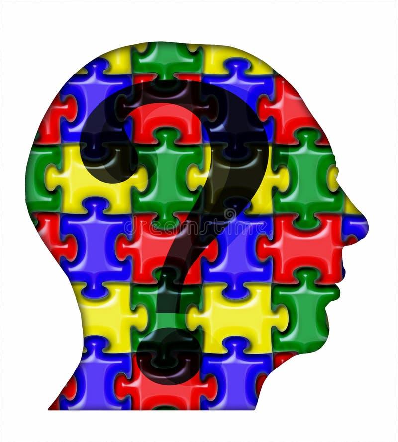 Cabeça do enigma ilustração royalty free