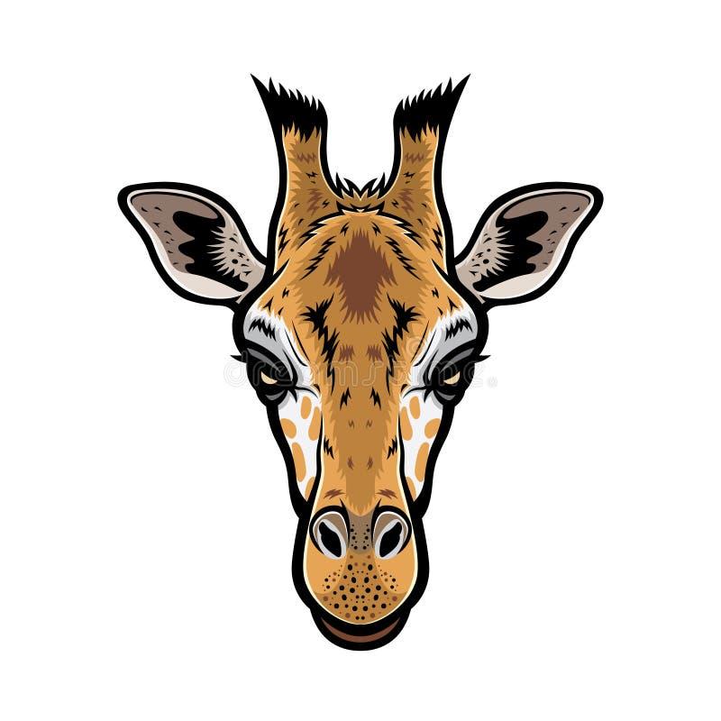 Cabeça do girafa ilustração do vetor