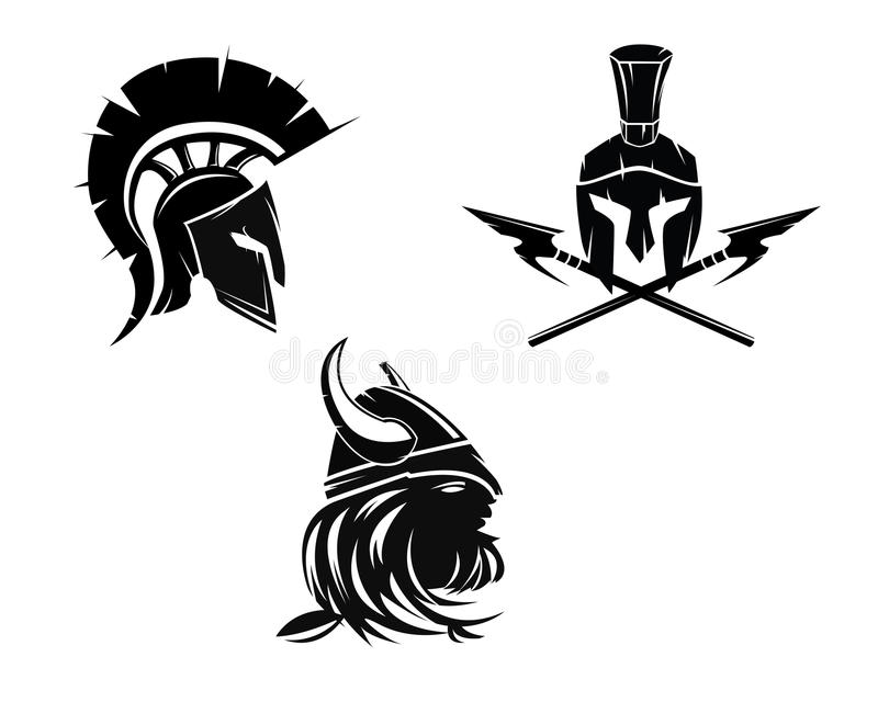 Cabeça do guerreiro ilustração stock