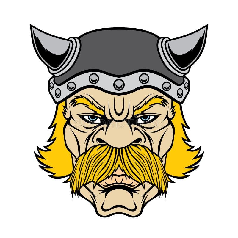 Cabeça do guerreiro de Viking ilustração stock