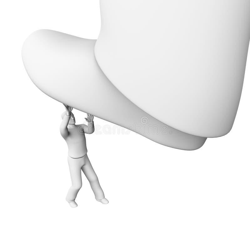 Cabeça do homem ilustração do vetor